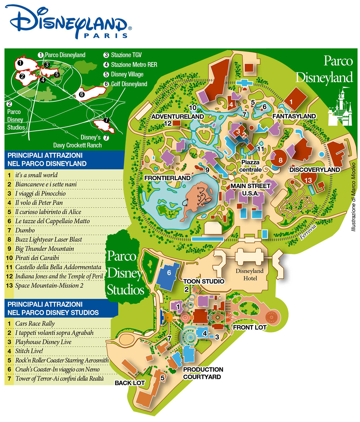 Disneyland Paris Map – MarcoModeo.com
